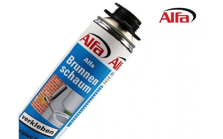 632 Alfa Brunnenschaum - Einkomponentiger, feuchtigkeitshärtender, wasserdichter Klebe- und Dichtschaum