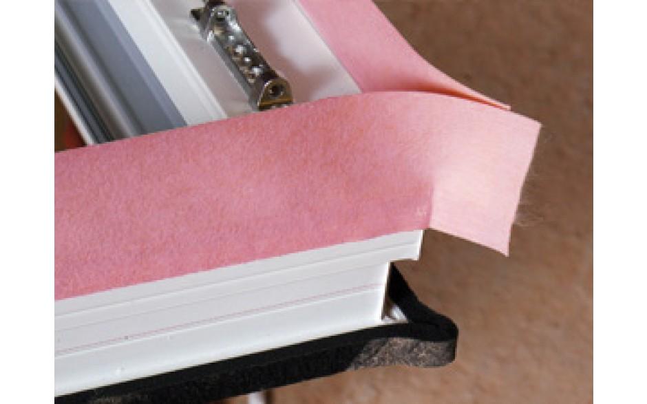 Alfa FULTRA-i diffusionsdichtes Fensterdichtungsband rot mit Selbstklebestreifen
