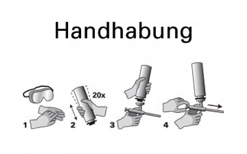 Einfache Handhabung der Schaumpistole