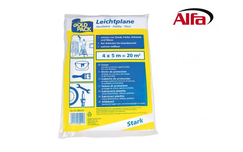 418 Alfa HDPE-Abdeckfolie zum Schutz vor Staub, Farbe, Schmutz und Nässe.