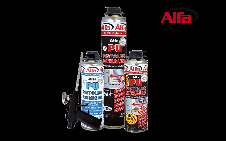Alfa Profi-Set mit Pistolenschaum, Schaumpistole und Reiniger