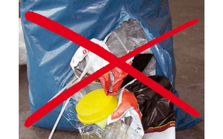 Müllsäcke sollten nicht reißen